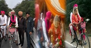 Bathinda man takes 'baraat' on cycle, Inspire people to 'Save environment'