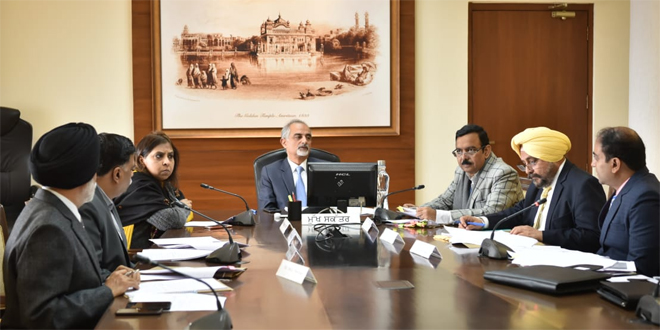 Punjab Chief Secretary Karan Avtar Singh presiding over a meeting of state level Coordination Committee to review preparations of Census-2021.