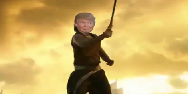 """Watch: US President Donald Trump Shares Morphed Video of Himself as """"Baahubali"""""""