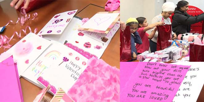 Sikh community makes Valentine's Day care packages for women fleeing domestic violence