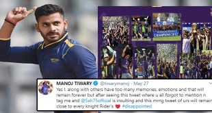This is insulting: Manoj Tiwary on KKR not tagging him in throwback post