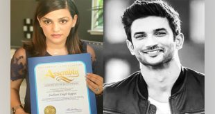 Sushant honoured by California State Assembly; sister shares pic
