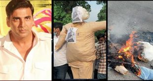 Akshay Kumar's effigy burnt at a protest in Chandigarh
